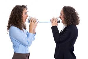 Konzept: Mobbing oder Kommunikation unter Frauen