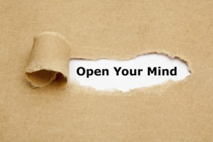 Open Your Mind Torn Paper
